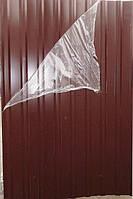 Профнастил для забора (профлист) 10-ти волновой 2000х950 мм коричневый /пленка