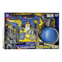 Игровой набор для мальчиков Набор полиции33540 - каска, маска, автомат трещ., пистолет, звук стрельбы, свисто
