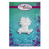 Декоративная фигурка из модельного пластика от ТМ LanaOdis - Горшок с цветами малый, 33х40 мм, 1 шт