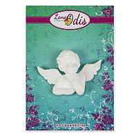 Декоративная фигурка из модельного пластика от ТМ LanaOdis - Мечтательный ангел 2, 38x52 мм, 1 шт