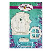 Декоративные фигурки из модельного пластика от ТМ LanaOdis - Дверка лесной феи 4, цвет белый перламутр, 3 элемента