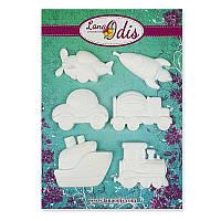 Декоративные фигурки из модельного пластика от ТМ LanaOdis - Игрушечный транспорт, 6 шт