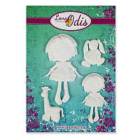 Декоративные фигурки из модельного пластика от ТМ LanaOdis - Любимые игрушки для девочки, 4 шт