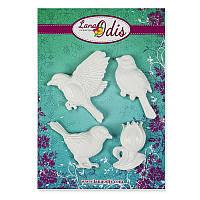 Декоративные фигурки из модельного пластика от ТМ LanaOdis - Набор птицы и тюльпан, 4 шт