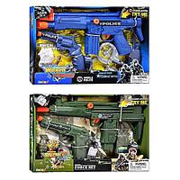 Детский игровой набор Набор полиции/ военного33390-33400 -2 вида, автомат трещ., пистолет, звук стрельбы, на