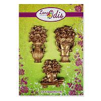 Декоративные фигурки из модельного пластика от ТМ LanaOdis - Набор цветов в вазах, цвет бронза, 3 шт