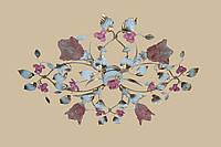 Белая люстра с розовыми розами 4525/4 WR