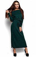 Тепле темно-зелене плаття-максі Ambisia