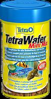 Корм TetraWafer Mini Mix для мелких донных рыб в чипсах, 100 мл, фото 1