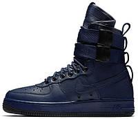 "Мужские кроссовки Nike Special Field Air Force 1 ""Binary Blue"" (Найк Аир Форс высокие) синие"