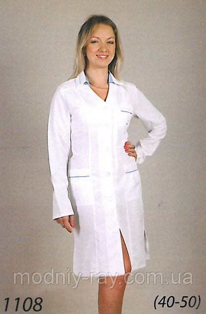 Женский медицинский халат из габардина