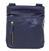 Мужская кожаная сумка планшет Mk13 синяя