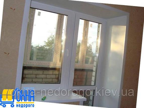Откосы из гипсокартона на балконный блок , фото 2