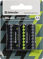 Батарейка DEFENDER Alcaline AA/LR6 (4 шт)