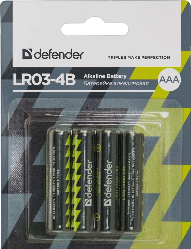 Батарейка DEFENDER Alcaline AAA/LR03 (4шт)