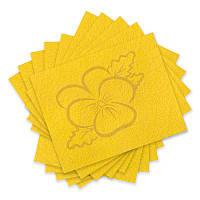 Фетр 100 % полиэстер - Желтый, толщина 1 мм, 27x34 см, 10 шт