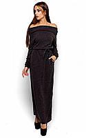 Тепле чорне плаття-максі Ambisia