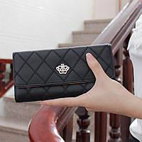 Модный женский кошелек черного цвета LANJINJUE