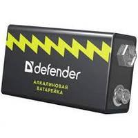 Батарейка крона DEFENDER Alcaline  9V/6LR61