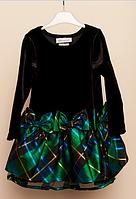 Праздничное велюровое платье 2-3 года