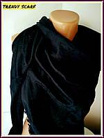 Платок Louis Vuitton бренд Луи Виттон черный цвет monogram реплика шерсть шелк 140*150 см