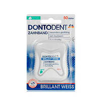 Dontodent Brilliant Weiss Zahnband Зубная нитка 50 м