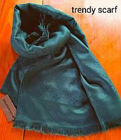 Женский Платок Louis Vuitton бренд Луи Виттон зелено синий цвет платок  monogram реплика шерсть шелк 140 c2c38eeca29
