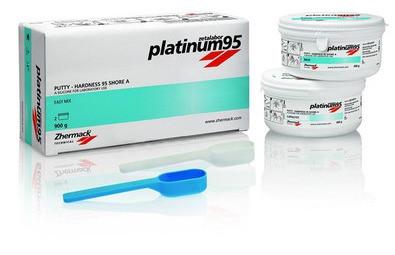 PLATINUM 95 - А-силикон для создания ключей, твердость 95, 450г+450г