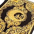 Коран с филигранью (золото), литьем и гранатами в замшевой шкатулке, фото 3