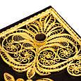Коран с филигранью (золото), литьем и гранатами в замшевой шкатулке, фото 5