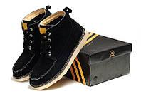 Зимние ботинки черные с мехом Adidas Ransom Original Boot Black Cat