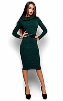 Осіннє темно-зелене класичне плаття-міді Lantene (S-M, M-L)