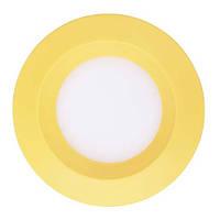 LED светильник встр. FERON AL525 3W круг, желтый 240Lm 5000K 90*26mm