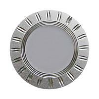 LED светильник встр. FERON AL779 5W круг, серебро 400Lm 4000K 93*28mm
