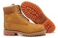 Зимние ботинки на меху Classic Timberland 6 inch Yellow Winter Fur High Quality