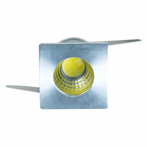 LED светильник встр. SMD FERON G772 3W алюминий квадрат 6500K