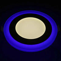 LED светильник встр. FERON AL2662  6W 480Lm 4000K 145mm (синяя подсветка)