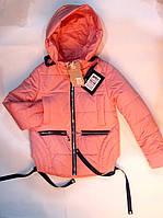 Куртка  демисезонная на девочку 6-12 лет