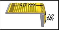 """Противоскользящая накладка на ступени 40х20мм, анодированная """"Золото"""""""