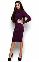Осіннє фіолетове класичне плаття-міді Lantene
