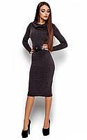 Осіннє чорне класичне плаття-міді Lantene