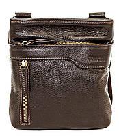 Мужская кожаная сумка планшет Mk13 коричневая