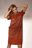 Платье свободного силуэта  с оригинальным декором  «Роспись шерстью»
