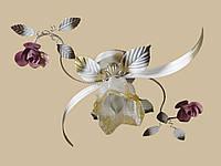 Белая с розовым люстра флористика 1809/1 WR