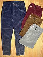 Вельветовые брюки на девочку оптом, Glo-story, 140, 152 рр