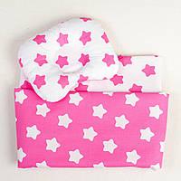Одеяло для новорожденного BabySoon Звезды на розовом 65 х 75 см розовый (318)