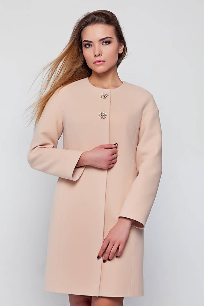 Пальто Доната персик