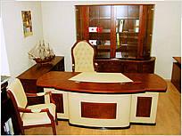 Стол руководителя Антарес кожа бежевая