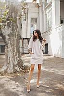 Женское платье в горошек свободного кроя