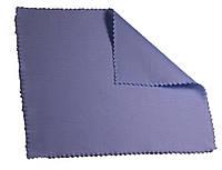 Салфетка для очков, мониторов, глянцевых гаджетов большого размера 16,5см х 14см голубая